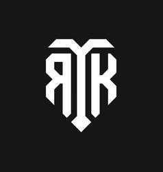 Rk logo monogram design template vector