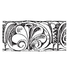 romanesque motive norman architecture vintage vector image