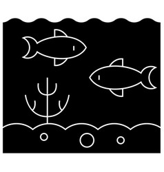 sea inside icon sign o vector image