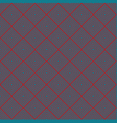 seamless christmas pattern rhombuses for cozy vector image