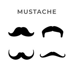 set icons retro mustache vector image