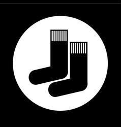 sock icon design vector image