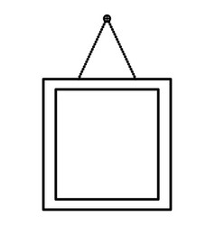 Square picture hanging decoration vector