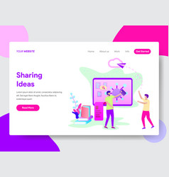 student sharing ideas concept vector image
