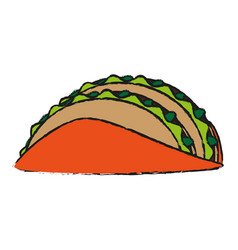 Tacos food draw vector