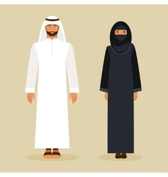 The Arabs in the national costume vector image