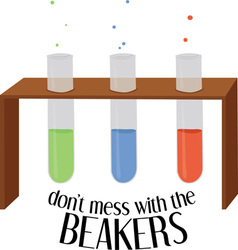 The Beakers vector image