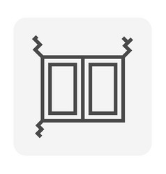 Wall crack icon vector