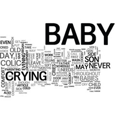 What if a baby cries text word cloud concept vector