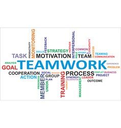 word cloud teamwork vector image