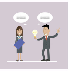business idea and concept vector image vector image