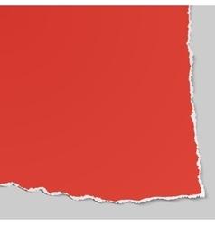 Corner of torn paper Use in design banners flyer vector image