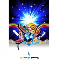 discotheque Dj event flyer vector image