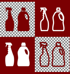household chemical bottles sign bordo and vector image vector image