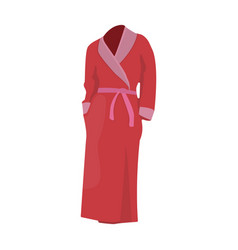 pink lady s gown after bath home clothes for vector image vector image