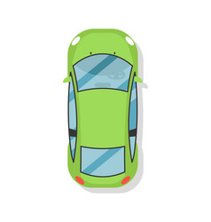 top view sedan car isolated icon vector image vector image