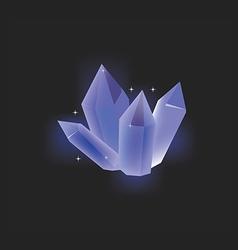 Blue crystal icon vector