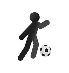 Football soccer isometric 3d icon vector image vector image