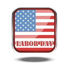 Labor day card with the flag of unites states of a vector image
