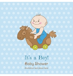 Baby Boy Shower and Arrival Card vector image