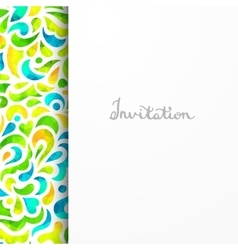 Beautiful card for invitation or announcement vector image