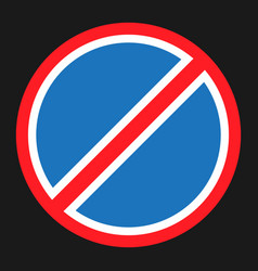 clearway and no parking sign flat icon vector image vector image