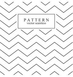 zigzag seamless minimalistic pattern vector image vector image