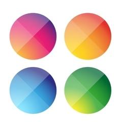 Empty round button set vector image