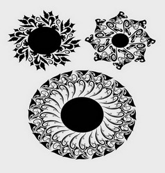 Floral element 1 vector image vector image