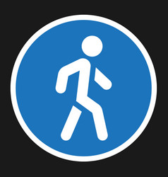 Footpath sign flat icon traffic and road sign vector