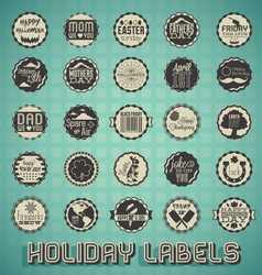 Mix of Holiday Labels and Icons vector image vector image