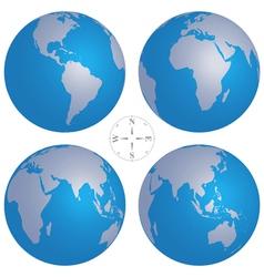 world globe maps vector image