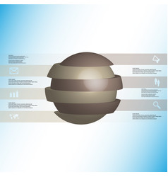3d infographic template with ball sliced to six vector image