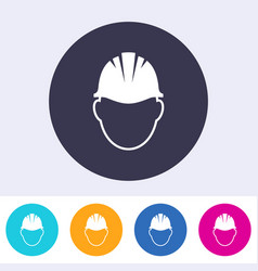 abstract safety helmet sign icon vector image