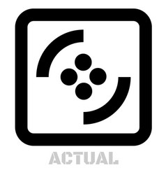 Actual conceptual graphic icon vector