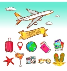 Air Travelling Icon Set vector