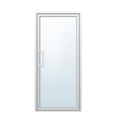 Aluminium door vector