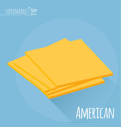 american cheese icon vector image