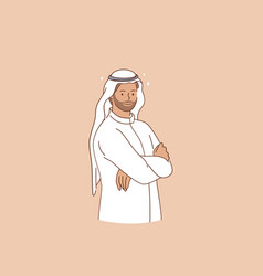 Arabic ethnicity and traditional wear concept vector