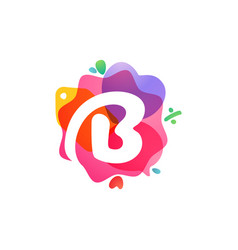 B letter logo with sale icons overlapping vector
