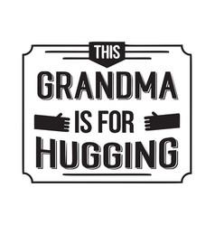 Best grandma handwritten in black vector