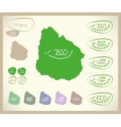 Bio Map UY Uruguay vector