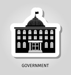 black government building web sticker vector image