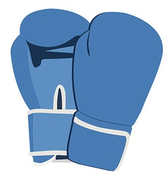 Blue boxing gloves vector