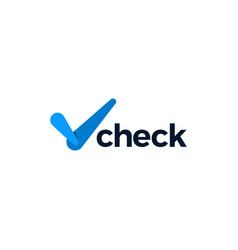 Check logo icon vector