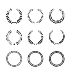 Circular Laurel Wreaths vector image