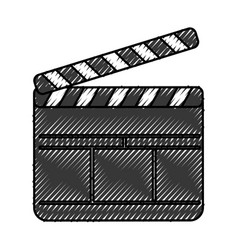 clapperboard film isolated icon vector image
