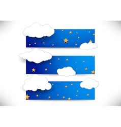 Collection of cards with clouds vector image