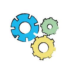 color gear industry engineering process vector image