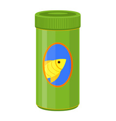 colorful cartoon fish food jar vector image